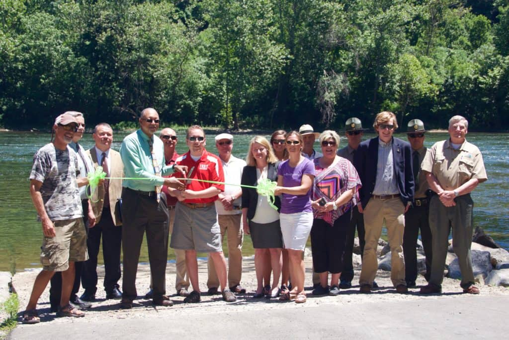 Guides, Outfitters, VDGIF, Elected Officials, & partners were on hand for the NRWT ribbon cutting.