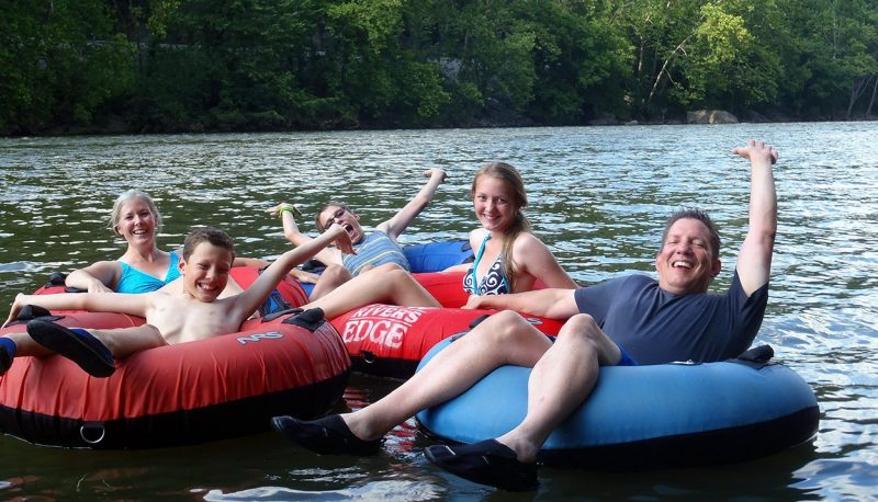 River tubing with NRE