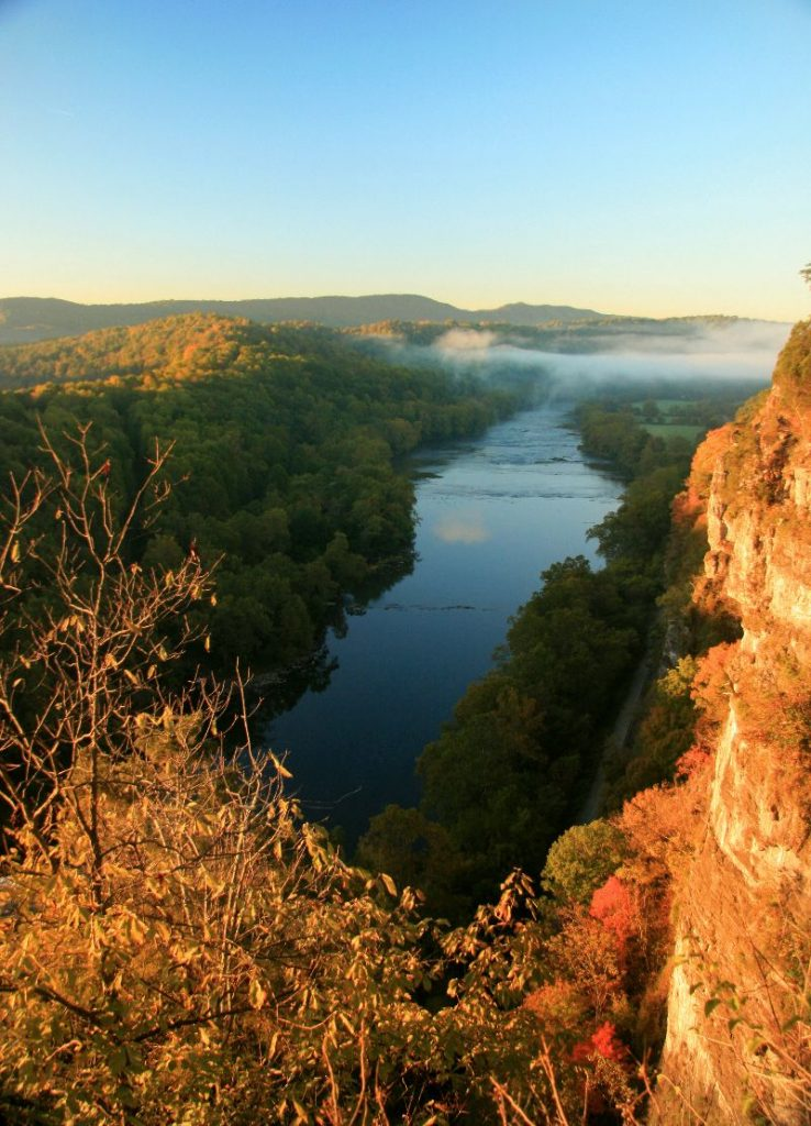 Cliffs over New River