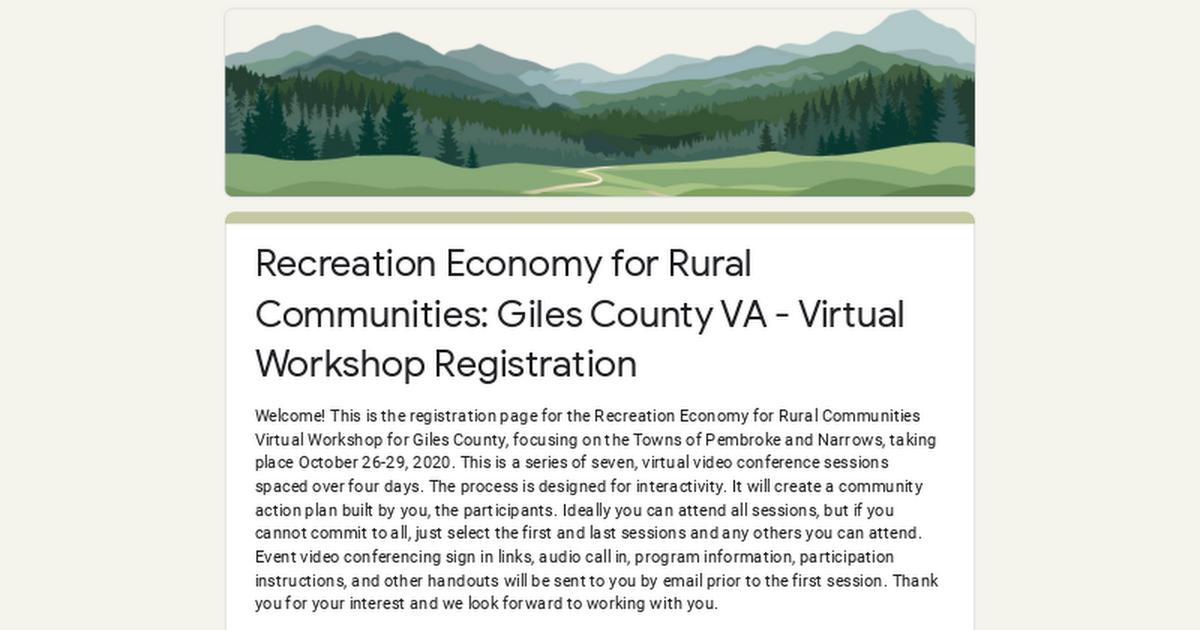 Recreation Economy